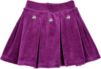 Lil Orchids Solid Baby Girls Pleated Purple Skirt  available at flipkart for Rs.279