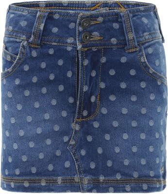 FS Mini Klub Printed Girls A-line Blue Skirt