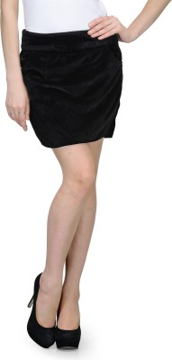 Natty India Solid Women Tube Black Skirt Natty India Women's Skirts