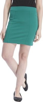 Only Solid Women Tube Green Skirt at flipkart
