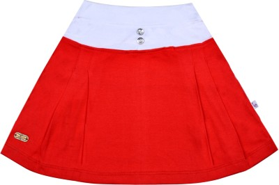 Lil Orchids Solid Girls Pleated Multicolor Skirt at flipkart