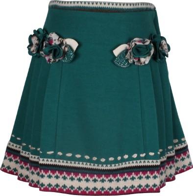 Cutecumber Solid Girls A-line Green Skirt at flipkart
