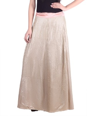 Reme Solid Women A-line Beige Skirt at flipkart