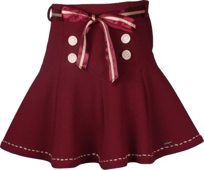 Cutecumber Solid Girls A-line Maroon Skirt  available at flipkart for Rs.418