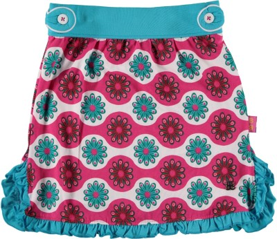Bakery Babes Printed Girls A-line Pink Skirt