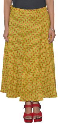 Pezzava Self Design Women Wrap Around Yellow, Red Skirt at flipkart