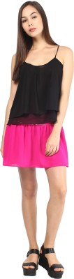 The Vanca Printed Women's A-line Purple Skirt  available at flipkart for Rs.381