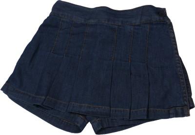 ChildKraft Solid Women's Regular Blue Skirt