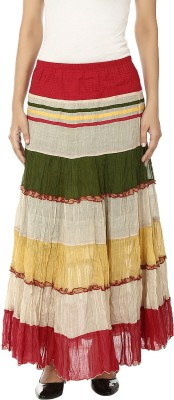 Reevolution Solid Women A-line Green, White Skirt