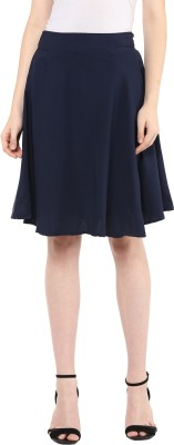 Mayra Solid Women Regular Dark Blue Skirt