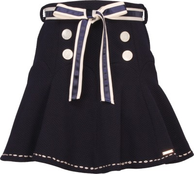 Cutecumber Solid Girls A-line Blue Skirt  available at flipkart for Rs.418