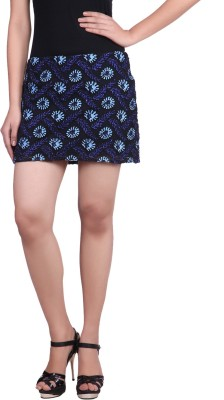 Reme Embroidered Women A-line Blue Skirt at flipkart