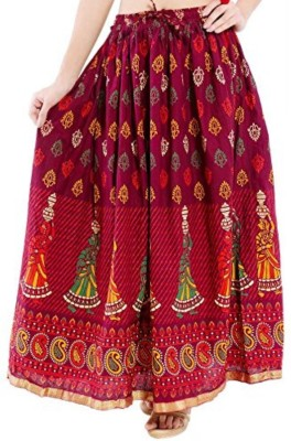 Oxolloxo Printed Women Straight Multicolor Skirt