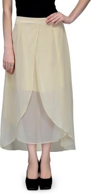 Natty India Solid Women Tulip Beige Skirt Natty India Women's Skirts