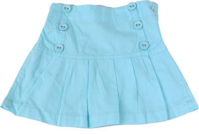 ChildKraft Solid Girls Regular Blue Skirt