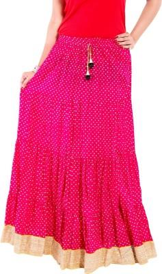 Magnus Printed Women Pencil Pink Skirt at flipkart