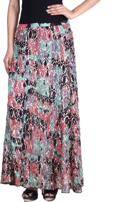 Reme Floral Print Women A-line Multicolor Skirt at flipkart