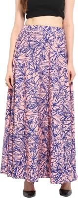 N2CREATIONS Printed Women Straight Multicolor Skirt