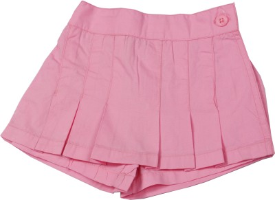 ChildKraft Solid Women's Regular Pink Skirt