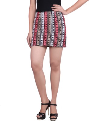 Reme Embroidered Women A-line Pink Skirt at flipkart