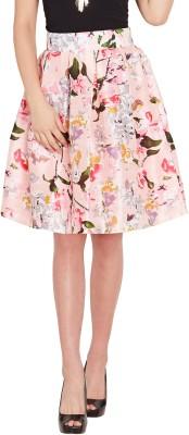 Sassafras Floral Print Women Pleated Pink Skirt