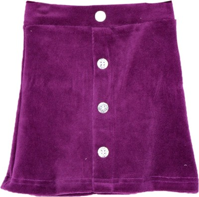 Lil Orchids Solid Baby Girls Straight Purple Skirt  available at flipkart for Rs.279