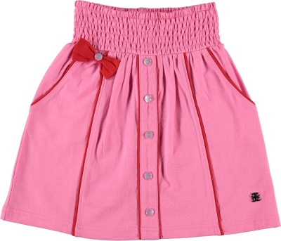 Bakery Babes Solid Girls A-line Pink Skirt