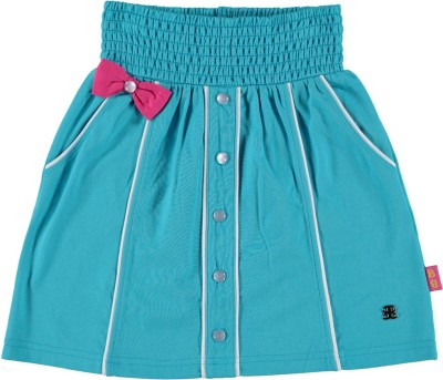Bakery Babes Solid Girls A-line Blue Skirt