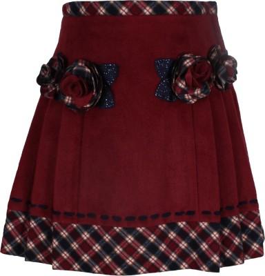 Cutecumber Solid Baby Girls A-line Maroon Skirt at flipkart