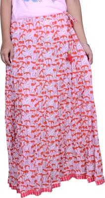 Pezzava Floral Print Women Regular Multicolor Skirt at flipkart
