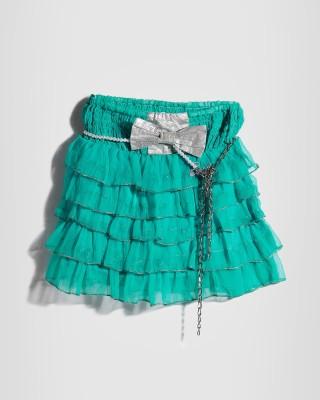 Barbie Embellished Girls A-line Blue Skirt