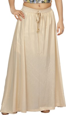 Dressberry Solid Women A-line White Skirt