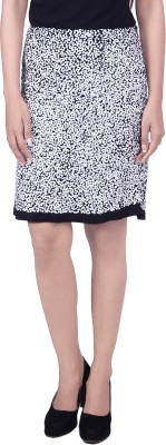 Reme Embellished Women A-line White Skirt at flipkart