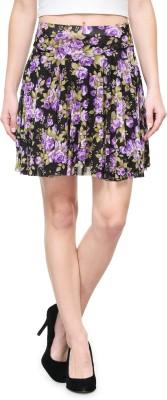 Camey Printed Women Regular Multicolor Skirt