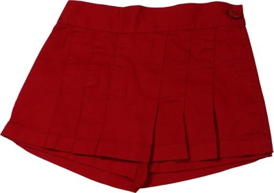 ChildKraft Solid Women's Regular Red Skirt