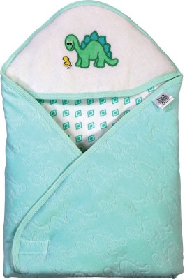 Brim Hugs & Cuddles BABY WRAPPER JACQUARD- Green Sleeping Bag(Green)  available at flipkart for Rs.289