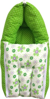 Younique Cotton Baby Bed Carrier Green Sleeping Bag(Green)