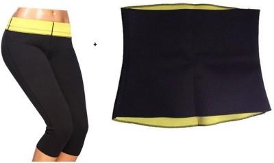 Benison India (L) Hot shaper slimming shorts and Slimming Belt(Black)