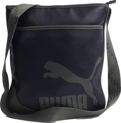 5c2f88514fbc Puma 7106501 Unisex Black Originals Flat Portable Sling Bag- Price in India