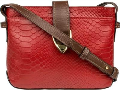Hidesign Women Red Genuine Leather Sling Bag at flipkart