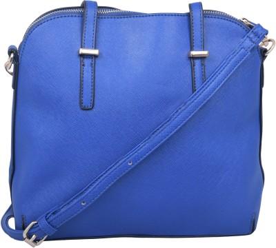 Kleio Women Blue Canvas Sling Bag at flipkart