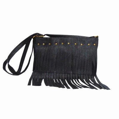 Estoss Women Black PU Sling Bag at flipkart