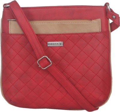 Esbeda Women Casual Red Leatherette Sling Bag