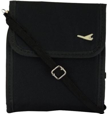 Ruby Men & Women Black Canvas Sling Bag