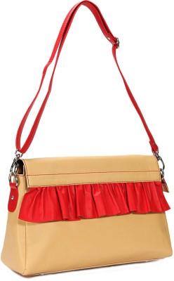efa1f5bae2a4 Borsavela Women Casual Beige Genuine Leather Sling Bag