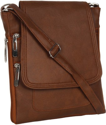 DnS Women Casual, Formal, Evening/Party Brown Leatherette Sling Bag at flipkart