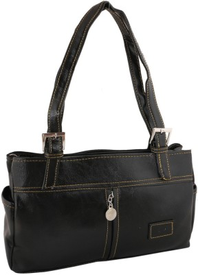 Sukkhi Women Black PU Shoulder Bag