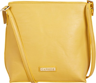 1c37a897816 47% OFF on Caprese Women Casual Yellow Leatherette Sling Bag on Flipkart