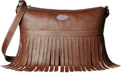 Fantosy Women Brown PU Sling Bag at flipkart