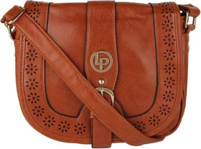 Lino Perros Women Casual Brown Leatherette Sling Bag